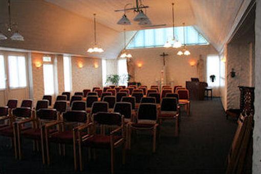 Achter in de kapel